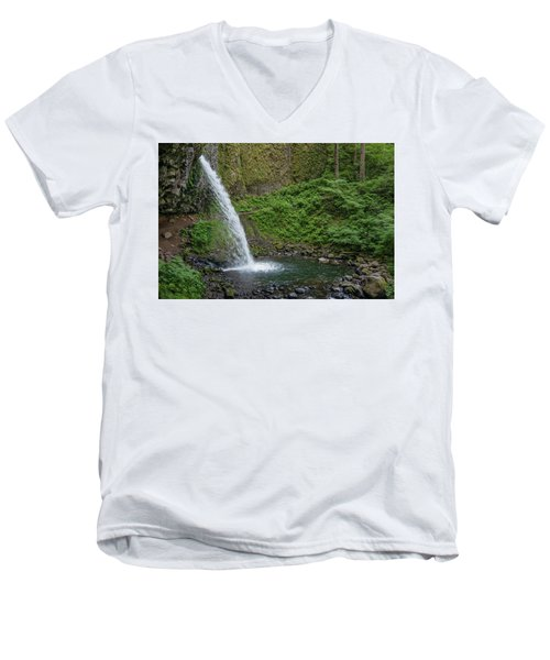 Ponytail Falls Men's V-Neck T-Shirt by Greg Nyquist