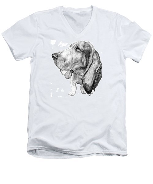 Pooch Men's V-Neck T-Shirt by Mike Ivey