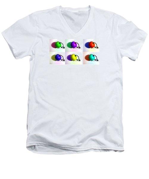 Pop-art Tomatoes Men's V-Neck T-Shirt