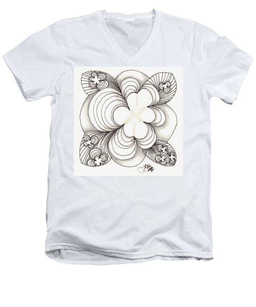Popcloud Blossom Men's V-Neck T-Shirt by Jan Steinle