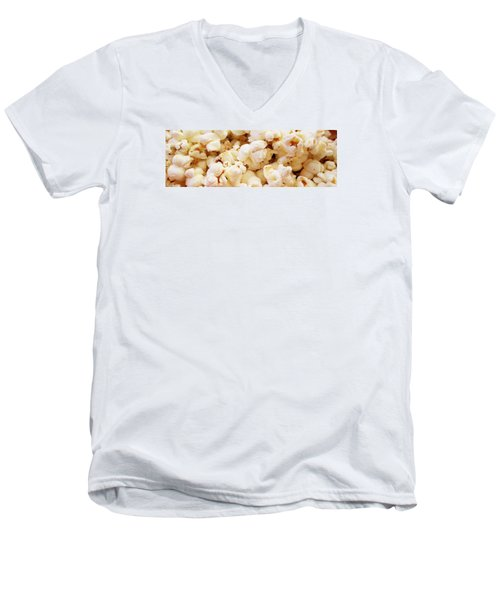 Popcorn 2 Men's V-Neck T-Shirt by Martin Cline