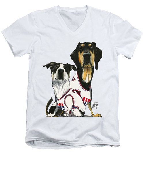 Poppy 3196 Men's V-Neck T-Shirt