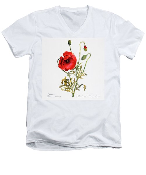 Poppy Men's V-Neck T-Shirt