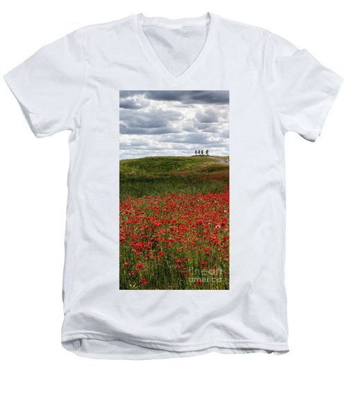 Poppy Field Men's V-Neck T-Shirt