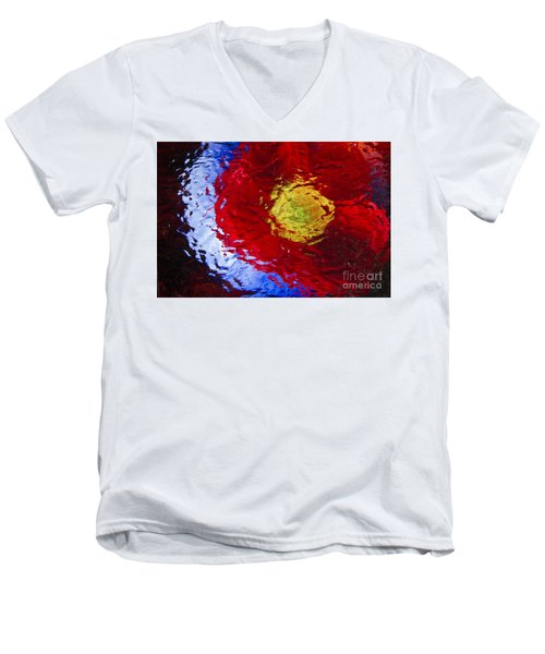 Poppy Impressions Men's V-Neck T-Shirt by Jeanette French