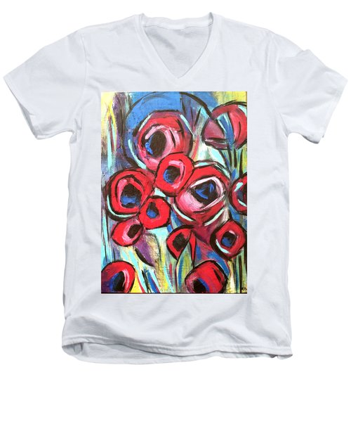 Poppy Love 1 Men's V-Neck T-Shirt