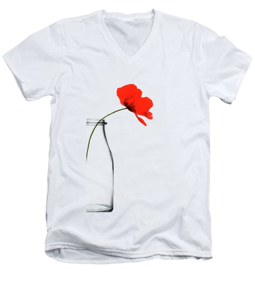 Poppy Red Men's V-Neck T-Shirt