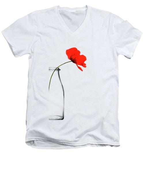Poppy Red Men's V-Neck T-Shirt