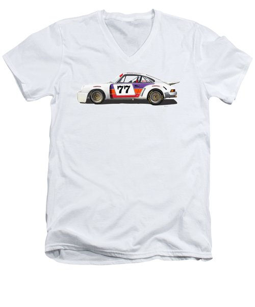 Porsche 1977 Rsr Illustration Men's V-Neck T-Shirt