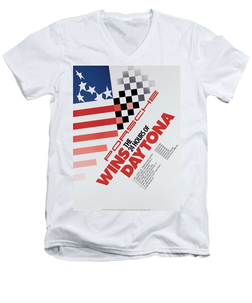 Porsche 24 Hours Of Daytona Wins Men's V-Neck T-Shirt
