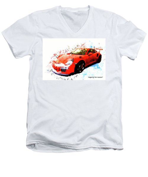 Porsche 911 Gts Men's V-Neck T-Shirt