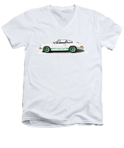 Porsche Carrera Rs Illustration Men's V-Neck T-Shirt