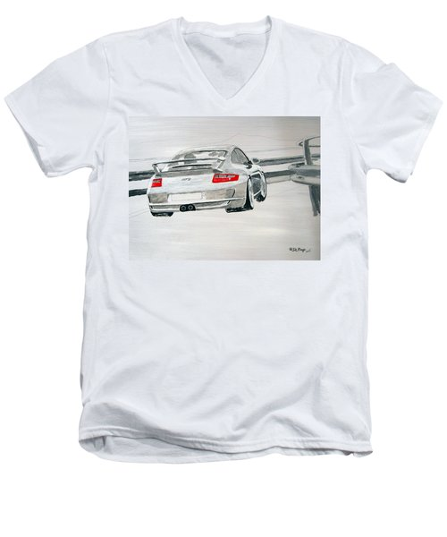 Porsche Gt3 Men's V-Neck T-Shirt