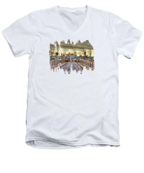 Port Of Newport - Dock 5 Men's V-Neck T-Shirt by Thom Zehrfeld