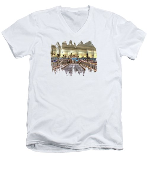 Port Of Newport - Dock 5 Men's V-Neck T-Shirt