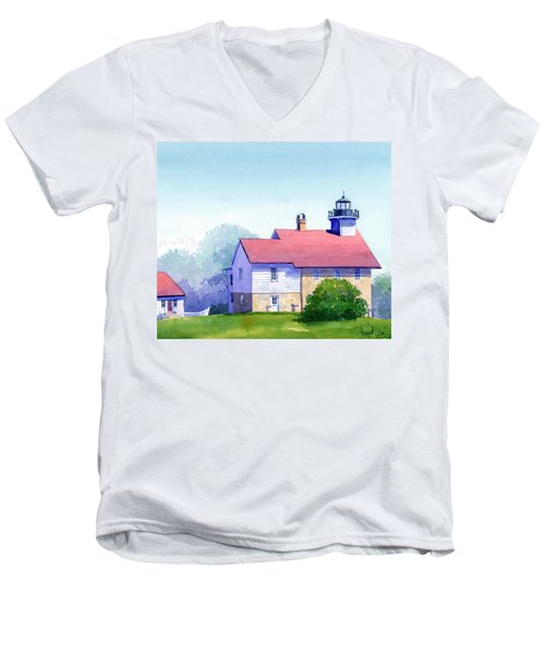 Port Washington Lighthouse Men's V-Neck T-Shirt
