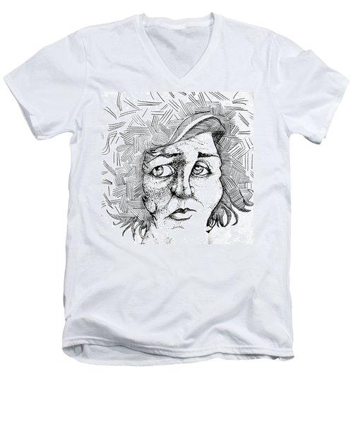 Portait Of A Woman Men's V-Neck T-Shirt