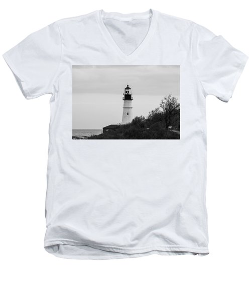 Men's V-Neck T-Shirt featuring the photograph Portland Head Light by Trace Kittrell