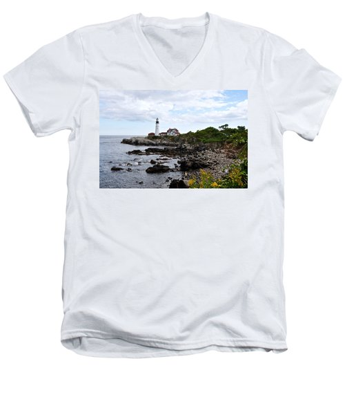 Portland Headlight II Men's V-Neck T-Shirt