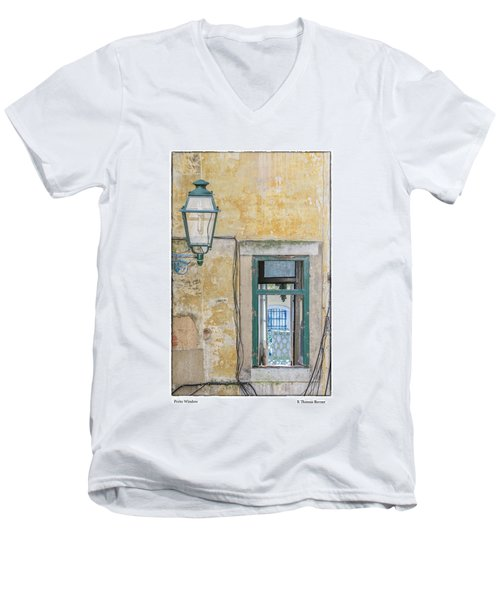Men's V-Neck T-Shirt featuring the photograph Porto Window by R Thomas Berner