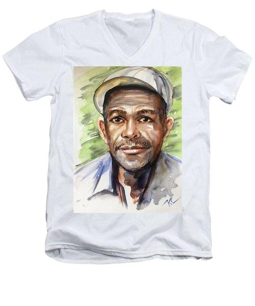 Portrait Of A Man Men's V-Neck T-Shirt