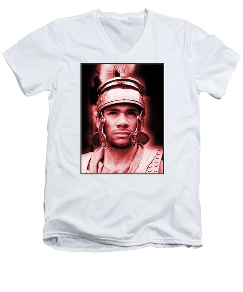 Portrait Of A Roman Soldier Men's V-Neck T-Shirt