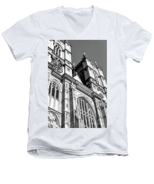 Portrait Of Westminster Abbey Men's V-Neck T-Shirt