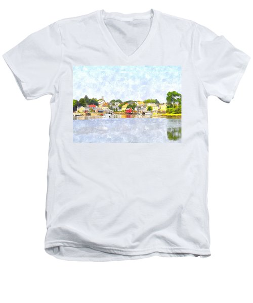Portsmouth Nh South End Psewc Men's V-Neck T-Shirt by Jim Brage
