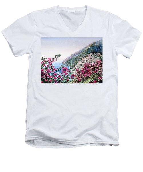 Positano Italy Men's V-Neck T-Shirt