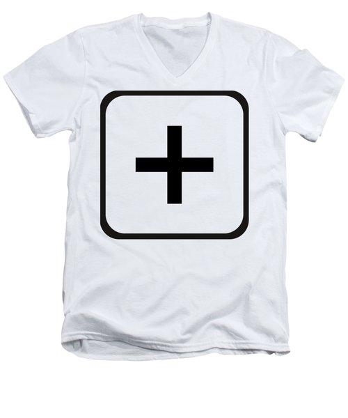 Men's V-Neck T-Shirt featuring the digital art Positive Art by Robert G Kernodle