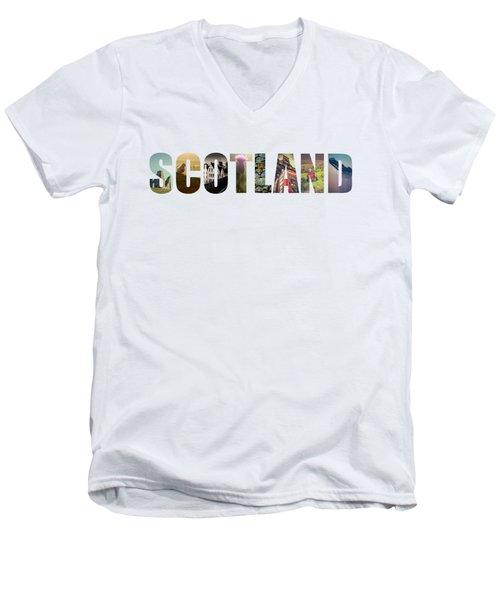 Postcard For Scotland Men's V-Neck T-Shirt
