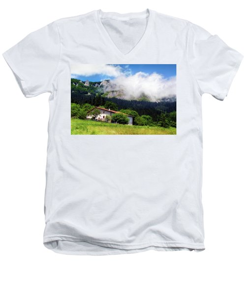 Postcard From Basque Country Men's V-Neck T-Shirt