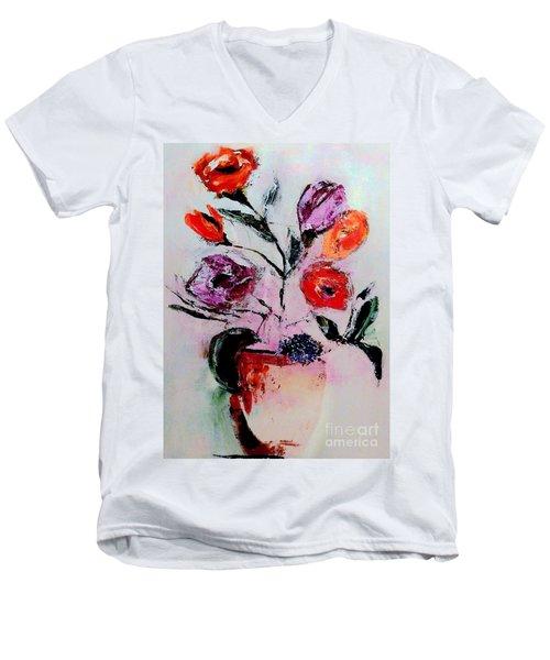 Pottery Plants Men's V-Neck T-Shirt by Lisa Kaiser