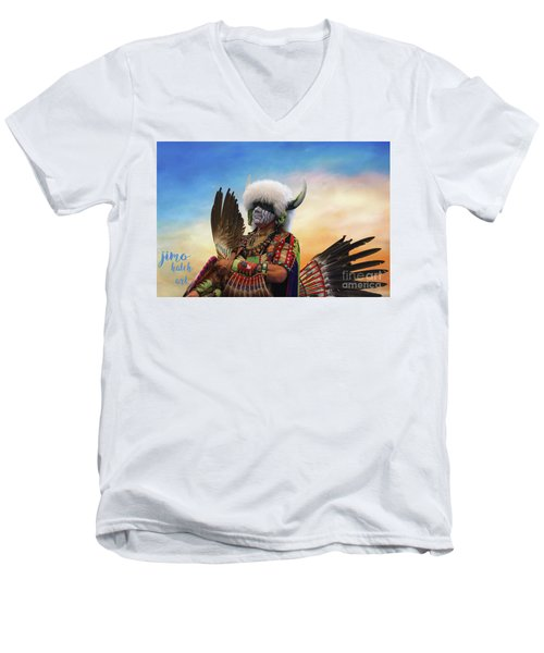 Men's V-Neck T-Shirt featuring the photograph Pow Wow 3 by Jim  Hatch