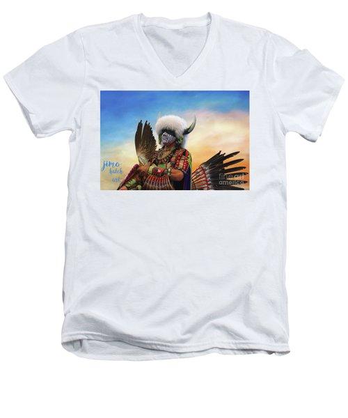 Pow Wow 3 Men's V-Neck T-Shirt