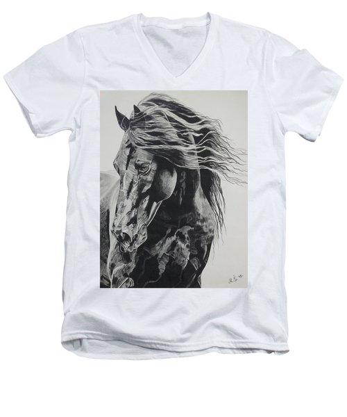 Power Of Horse Men's V-Neck T-Shirt