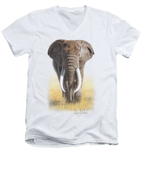 Power Of Nature Men's V-Neck T-Shirt by Lucie Bilodeau