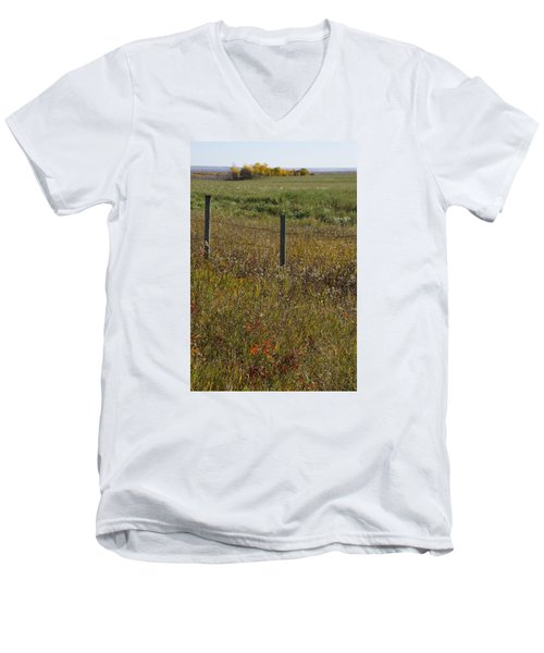 Prairie Autumn Men's V-Neck T-Shirt by Ellery Russell
