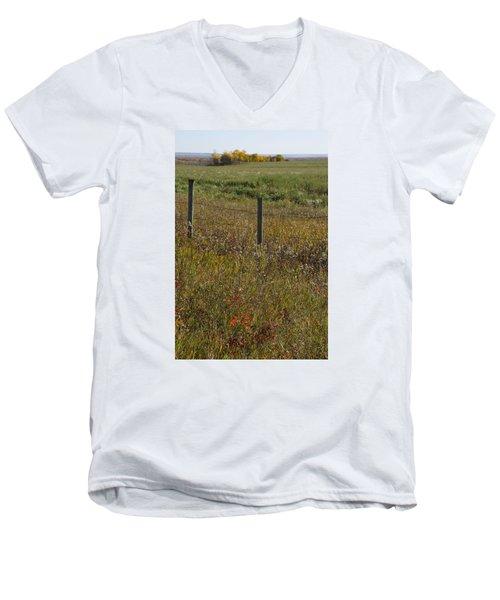 Prairie Autumn Men's V-Neck T-Shirt