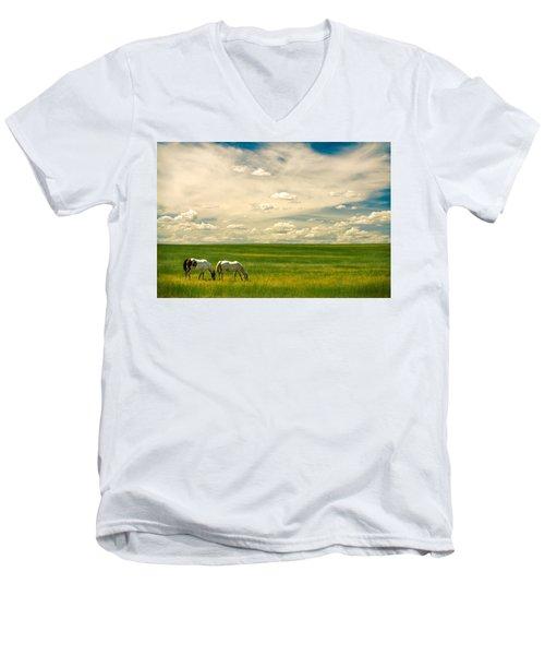 Prairie Horses Men's V-Neck T-Shirt