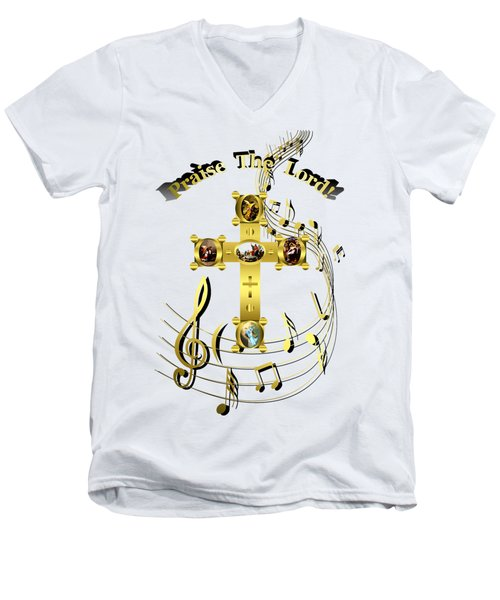 Praise The Lord Men's V-Neck T-Shirt