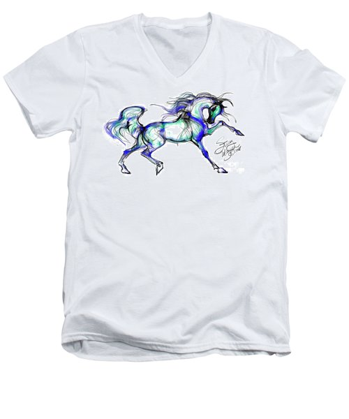 Prancing Arabian Horse Men's V-Neck T-Shirt