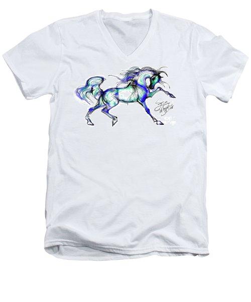 Prancing Arabian Horse Men's V-Neck T-Shirt
