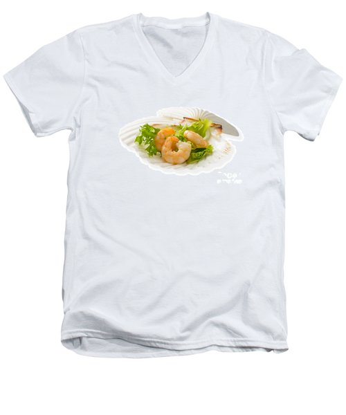 Prawn Appetizer Men's V-Neck T-Shirt