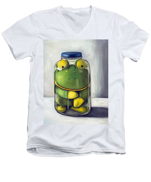 Preserving Childhood Upclose Men's V-Neck T-Shirt by Leah Saulnier The Painting Maniac