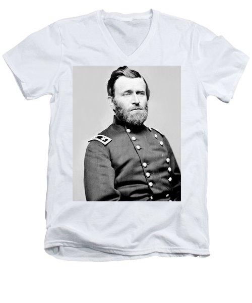 President Ulysses S Grant In Uniform Men's V-Neck T-Shirt