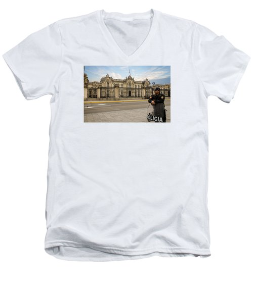 Presidential Palace In Lima Men's V-Neck T-Shirt