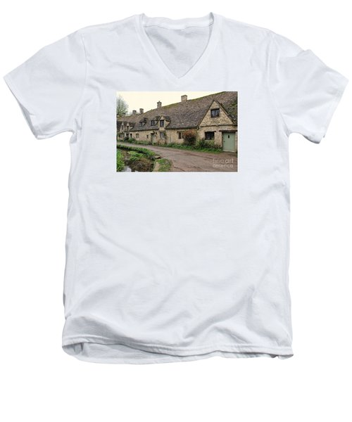 Pretty Cottages All In A Row Men's V-Neck T-Shirt