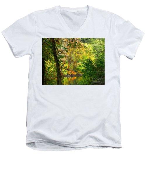 Prettyboy Of Autumn Men's V-Neck T-Shirt