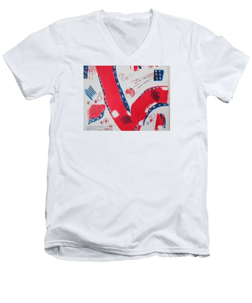 Pride - Glory - The Patriots Men's V-Neck T-Shirt by Sharyn Winters